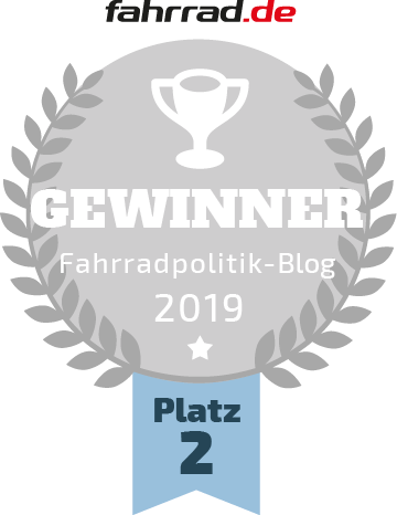 Fahrradblogwahl 2019 – FahrradWetter erreicht Silber!