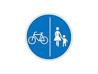 Radwege mit Benutzungspflicht die direkt mit dem Gehwege geteilt sind