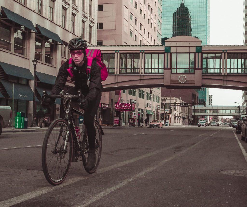 Im Winter mit dem Fahrrad ins Büro